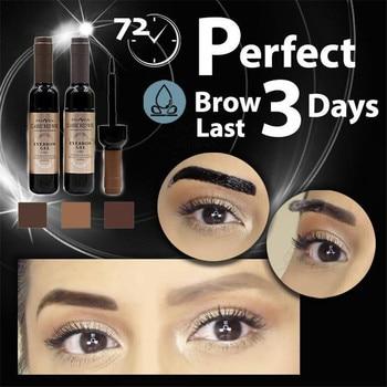 3 Days Last Perfect Waterproof Tattoo Eyebrow Gel Red Wine Tattoo Brow Gel Tint Waterproof Peel Off Dye Eye Brow Gel Cosmetics Health & Beauty