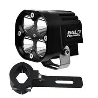 1pcs 3 Motorcycle Light 9 36V CREE U3 Motorcycle Light Universal LED Car DRL Motorcycles Headlights