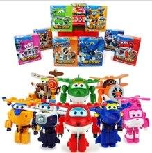 8 pcs Set Super Wings Action Figure font b Toys b font Mini Airplane Robot Superwings