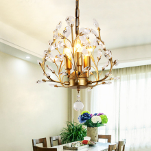 American style chandelier Nordic rural retro pastoral crystal branch creative aisle three restaurant Chandelier