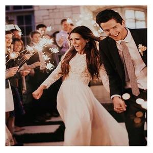 Image 5 - LORIE Boho Long Sleeve Wedding Dress 2019 Robe de mariee Vintage Lace Top New Bridal Dress Puffy Chiffon Wedding Dresses
