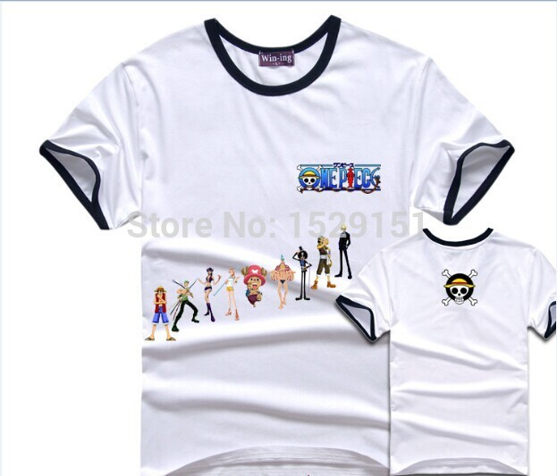 Summer Style Short Cool T-shirt Shirt One Piece OP Asian Taste Tops Chopper Sunny The Gray Straw Hat Pirates Mugiwara Kaizokudan