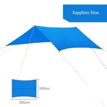 Hamaca Que Acampa Portable Tent Colchón Mat Alfombra para Dosel Toldo Refugio De Lona 300 cm * 300 cm Al Aire Libre Que Acampa Sombra Canopy Gazebo