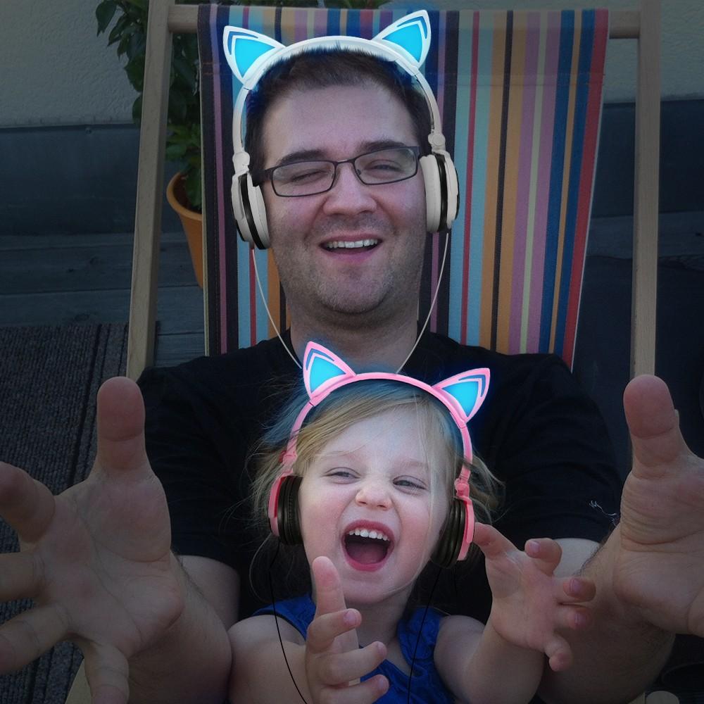 HTB1W31xOXXXXXawaFXXq6xXFXXXU - Mindkoo Stylish Cat Ear Headphones with LED light