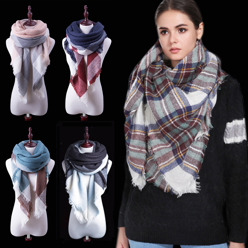 1bd82465578ed Za Winter Scarf Women Plaid Cashmere Scarf Brand Wrap Luxury Blanket Women Scarf  Warm Shawls and Scarves Long Shawl Wholesale