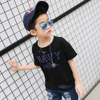 Fashion Hole Design Kids T Shirt Brand Black Cotton Baby Boy Clothes Short Sleeved Tee Shirts