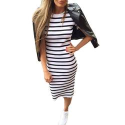 Woman fashion stripe long maxi o neck collar dress boho sexy satin slips fashionable dress women.jpg 250x250