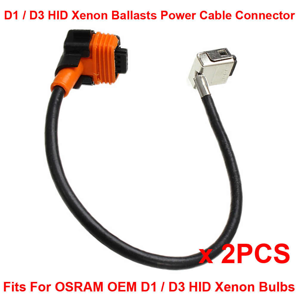 2PCS D1S D1R D1C D3S D3R D3C OEM HID Xenon Headlight Bulbs Ballasts Wire Harness Cable Adapter Holder Wiring Socket Plug N Play