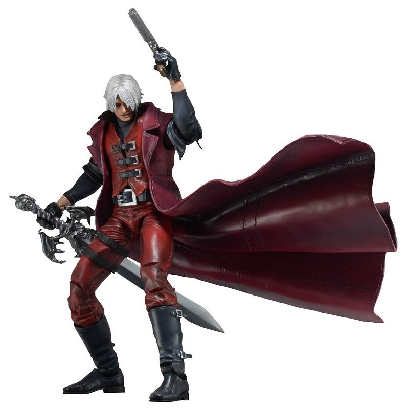 18cm NECA Devil May Cry Dante Pvc Display Model Toys Hot Game Devil May Cry Cartoon Collection Model Jouet Birthday Xmas Gift devil may cry ultimate dante 7 action figure neca alastor instock ne031001