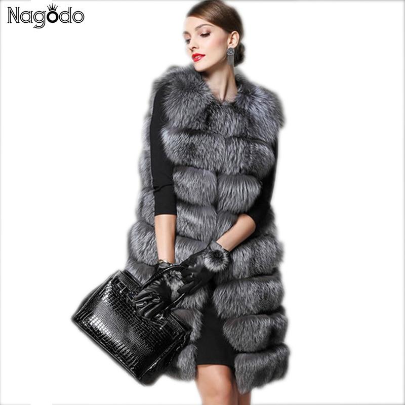 new europe long faux fur vest silver gray fur jacket. Black Bedroom Furniture Sets. Home Design Ideas