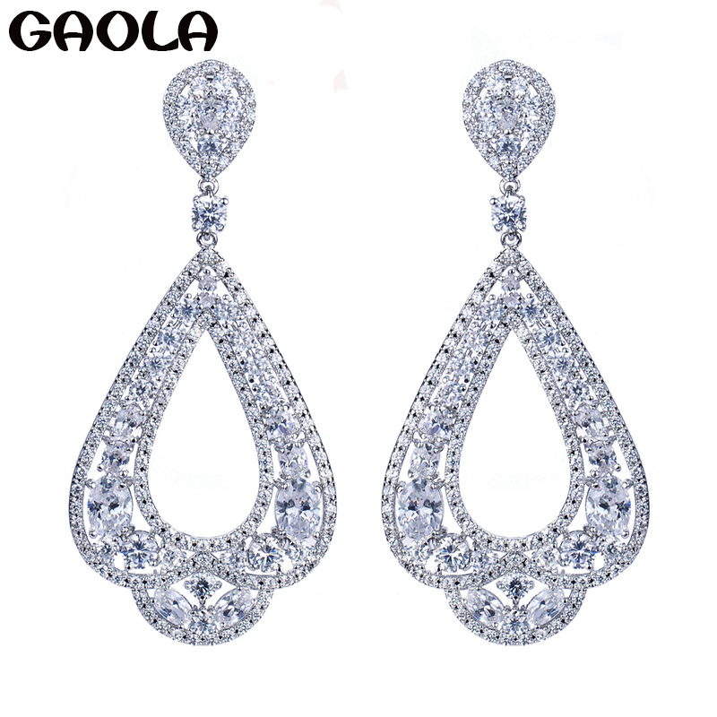 GAOLA High Quality Crystal Earring,Crystal CZ White Color Dangle Earrings For Women,2015 New Crystal Earrings GLE4299GAOLA High Quality Crystal Earring,Crystal CZ White Color Dangle Earrings For Women,2015 New Crystal Earrings GLE4299