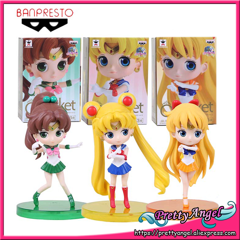 Original Banpresto 20th Anniversary Girls Memories Sailor Moon QPosket Petit Figure Vol.2 - Sailor Moon & Jupite & Venus high moon vol 01