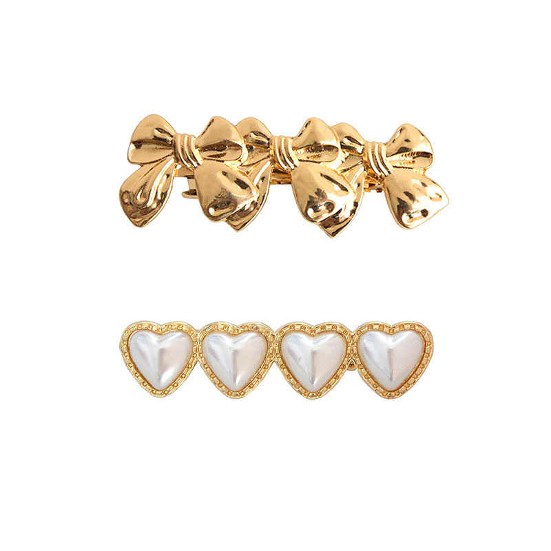 SANSUMMER 2019 Simple Versatile Love Pearl Butterfly Hairpin Knot Hair Accessories Metal Materia Women Accessories Hairwear 6381
