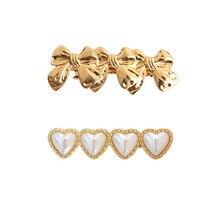 SANSUMMER 2019 Simple Versatile Love Pearl Butterfly Hairpin Knot Hair Accessories Metal Materia Women Hairwear 6381