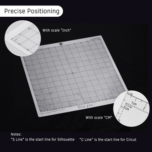 Image 5 - 5 個の交換カッティングマット透明粘着マット測定グリッド 12*12 インチシルエットカメオプロッタ機