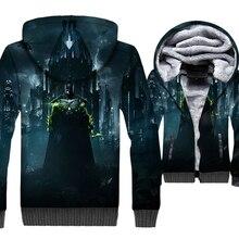 3D Hoodies 2019 Hot Sale Autumn Winter Jackets Men Batman Hooded Punk Style Mens Sweatshirt Thick Tracksuit Hip Hop Streetwear