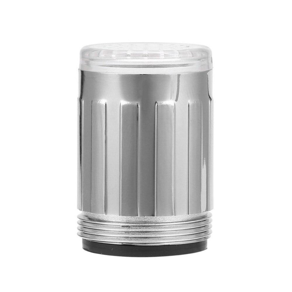 Светодиодные воды кран световой свечение светло-до душ водопроводной воды сопла головки свет для ванной комнаты смесители