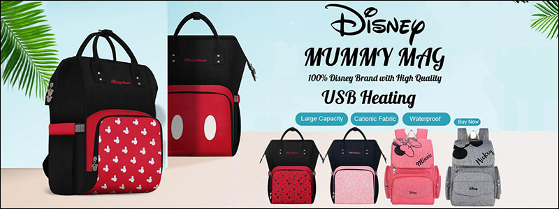 HTB1W339aXY7gK0jSZKzq6yikpXaV Disney Minnie Mickey Classic Red Diaper Bags 2PCS/SET Mummy Maternity Backpack Nappy Bag Large Capacity Baby Bag Travel 3D Doll