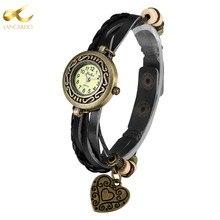 Lancardo Punk Bracelet Watches Women Dress Fashion Leather Montres Waterproof Punk Heart Ladies Watches Top Brand Luxury Watch