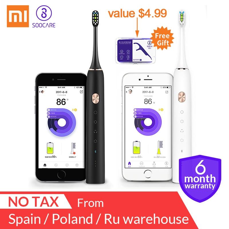 Xiaomi Mijia Soocas X3 sonic cepillo de dientes eléctrico actualizado adulto impermeable Ultra sonic automática cepillo de dientes recargable USB