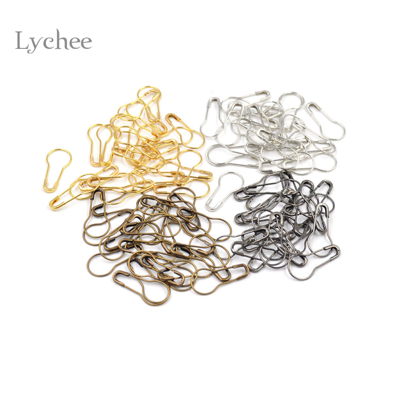 Lychee 100 Pieces/Lot Copper Knitting Locking Markers Pin Needle Multi Color DIY Handmade Craft Supplies