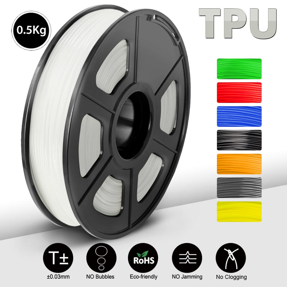 TPU Flexible 3D Printer Filament 1 75mm 1KG 2 2lb Spool Black Elastic TPU with shore