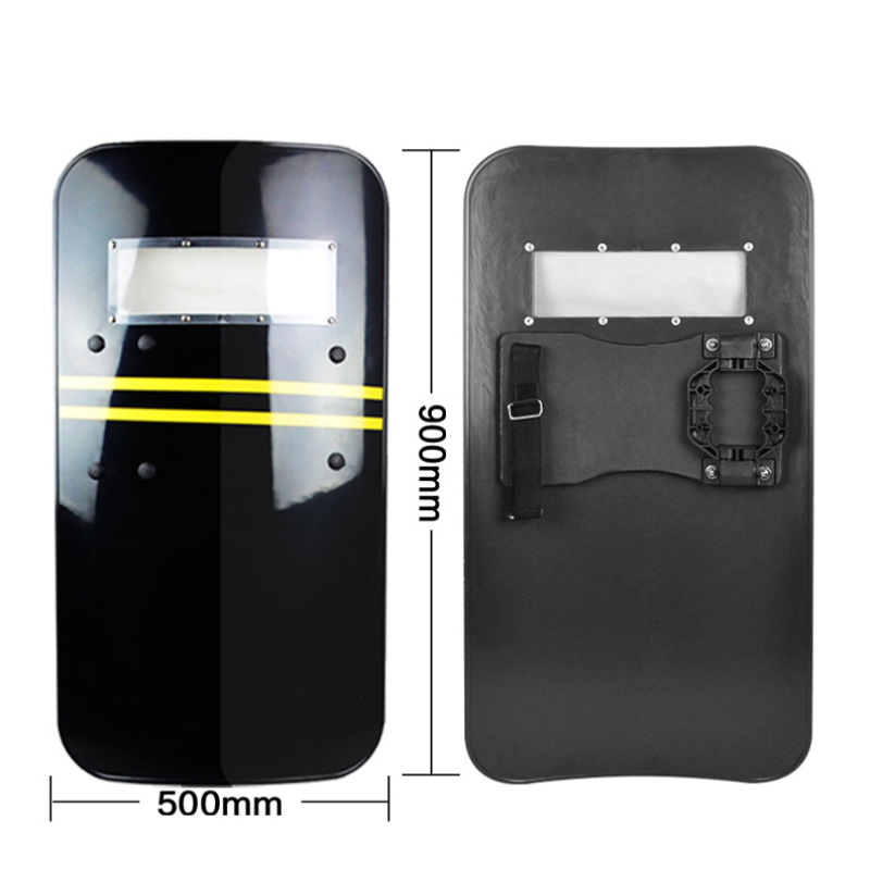New Arrival PC  Plastic Tactical Shield Self Protection Hand-Held Security Anti-Riot Self SuppliesShield Black Riot Shield Hand