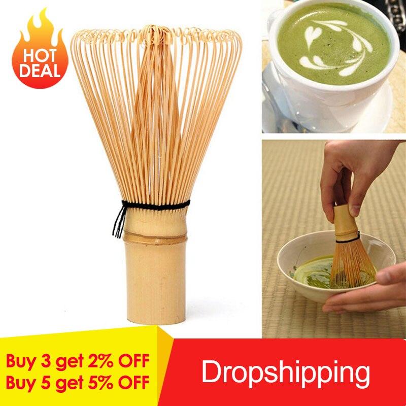 1PC Bamboo Green Tea przygotowanie Matcha Brush styl japoński Powder Whisk 48/64/65/80/96 Matcha w proszku Whisk Chasen pędzle