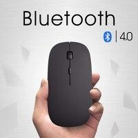 Nowy Bluetooth 4.0 Wireless Mouse Mini Akumulator Mysz Komputerowa dla Hp Dell Acer Asus Milczy Myszy Optycznych Kliknij dla Mac/Win10