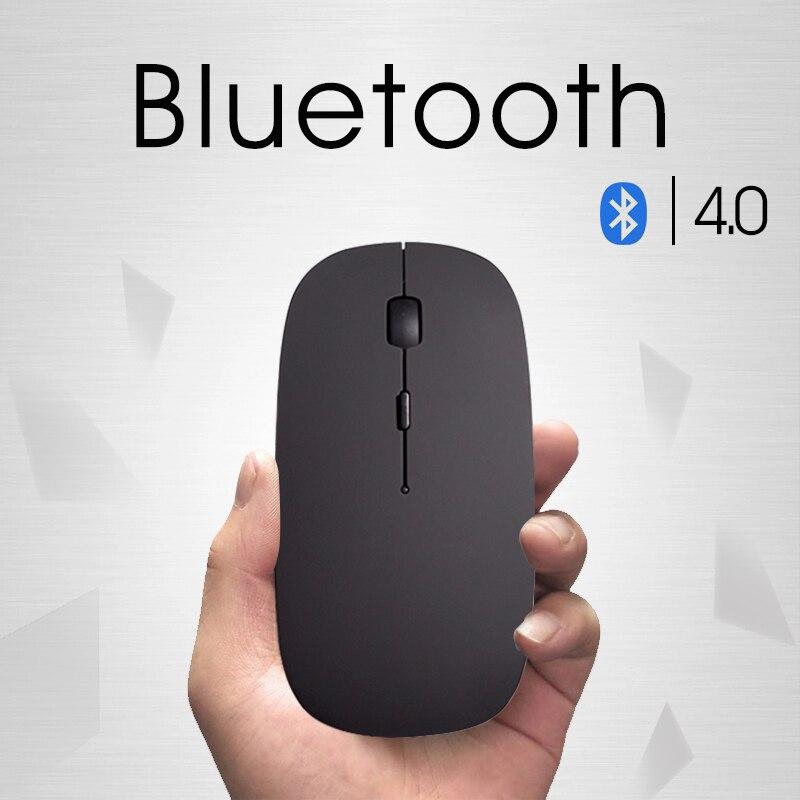 Nuevo Bluetooth 4,0 Mini ratón inalámbrico recargable ratón para Dell Acer Hp Asus óptico Silent clic para Mac /Win10