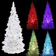 faroot brand xmas multi colors led christmas tree miniatures light lamp party decor plastic christmas tree