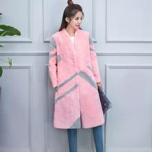 2016 Lady Fashion Real Rex Rabbit Fur Coat Jacket V-Collar Winter Women Fur Outerwear Coats Warm X-Long Garment 3XL 4XL VK3127
