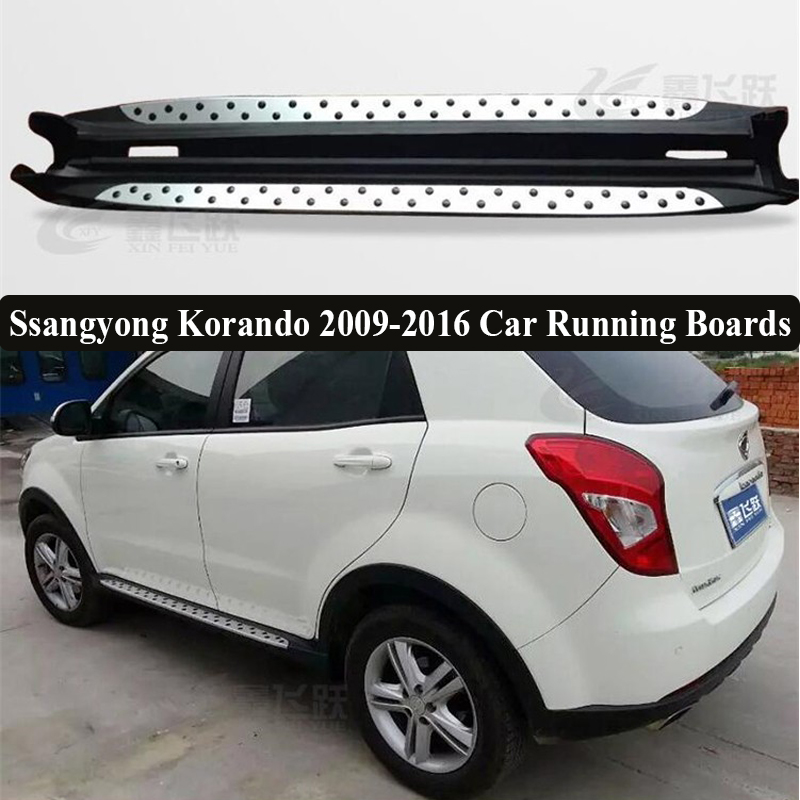 JIOYNG For Ssangyong Korando 2009-2016 Car Running Boards Auto Side Step Bar Pedals Brand New Nerf Bars