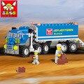 Nueva Original KAZI 6409 ciudad Camión Modelo Building Blocks Establece 163 unids/lote Coche Deformación Juguetes de Los Ladrillos de regalo de Navidad juguete SA614