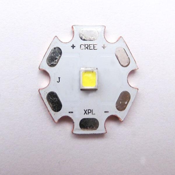 20x2,0 мм CREE XP-L V5 белый свет 1300 люмен светодио дный Медь Star
