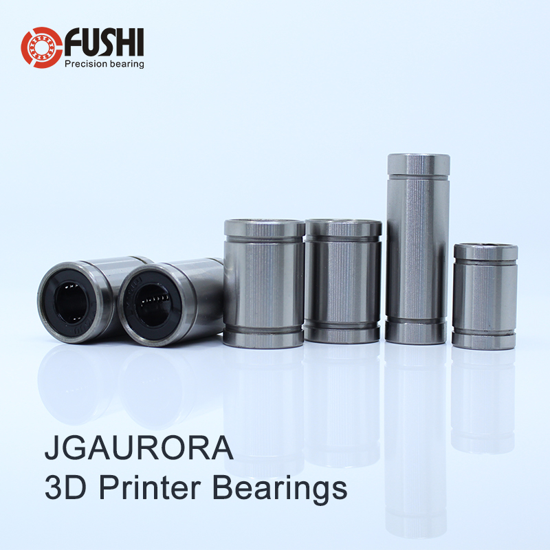3D Printer Parts Linear Bearings Set For JGAurora A5 / A5S / A1 A3S High Quality LM10UU LM8UU LM8LUU Bearing