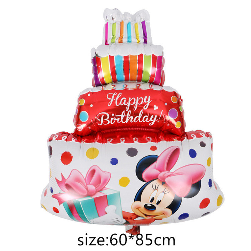 foil balloons Baby Boy Birthday Cake air Balloons  girl Birthday inflatable Party Decorations Kids cartoon hat earrings