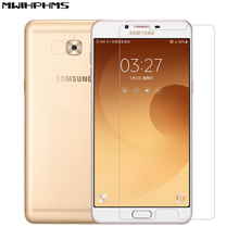 for samsung galaxy C9 PRO (C9000) 6.0 inch 9h hardness 0.26mm explosion-proof tempered glass screen protector film 2017 new  luxury tempered glass for 2017 new ipad pro 12 9 0 3mm 9h explosion proof toughened ultra thin hd film screen protector cover