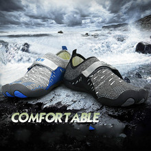 36822122f6b96f Unisex Aqua Upstream Water Shoes Men Women Five fingers shoes Hook   Loop  Barefoot Skin Surfing