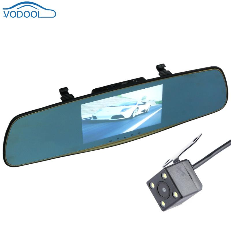 5.0 Inch Dual Lens Car DVR Automobile Rear View Mirror Camera IPS Screen Video Recorder Voiture Dash Cam Car Styling car mp5 player bluetooth hd 2 din 7 inch touch screen with gps navigation rear view camera auto fm radio autoradio ios