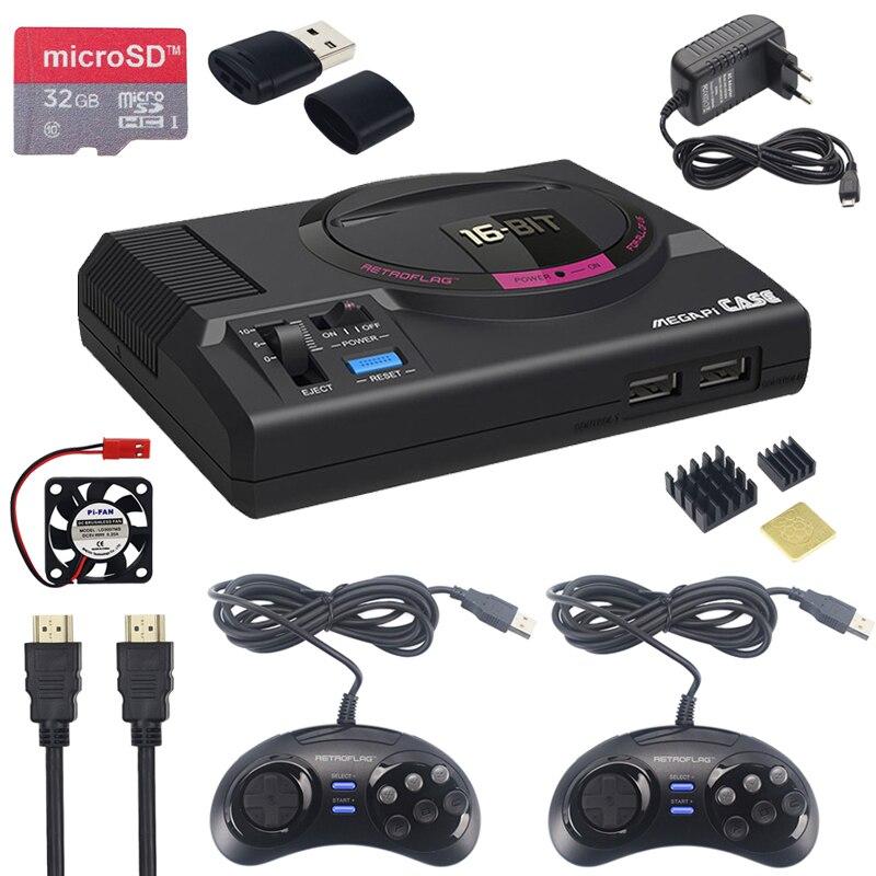 Retroflag MEGAPi CASE-M pour Raspberry Pi 3 modèle B Plus contrôleur USB classique-M + ventilateur + dissipateurs + adaptateur secteur pour RetroPie