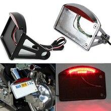 Мотоциклетный номерной знак светодиодный задний светильник горизонтальный боковой Кронштейн Держатель для Harley Softail Bobber Chopper на заказ