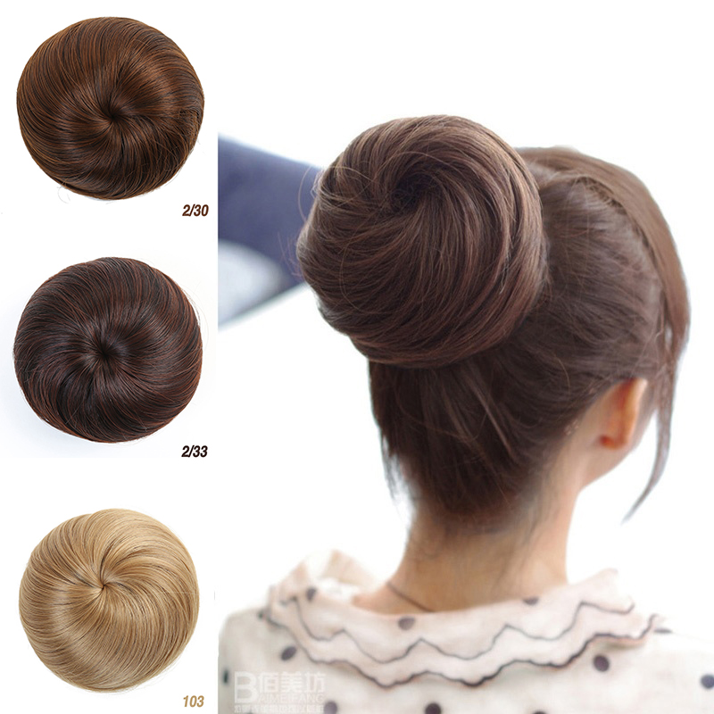 MUMUPI Women Girls Hair Extensions Bun Updo Clip on Hairpiece Hair Care chignon   headwear