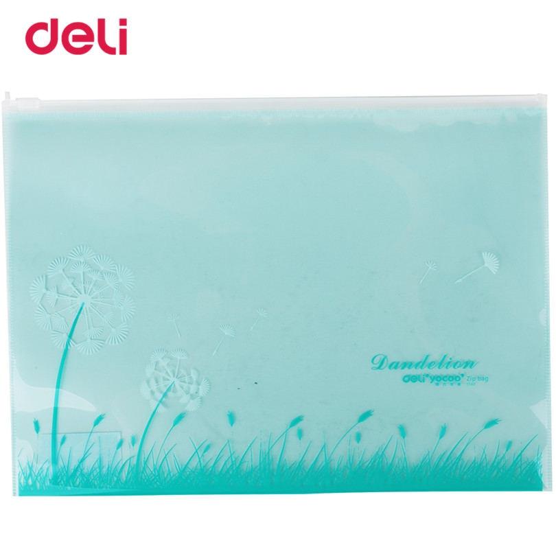 Deli File Practical Documento Bag Statioenry Waterproof Light Blue Brisk Presentation Folder For School Supplies