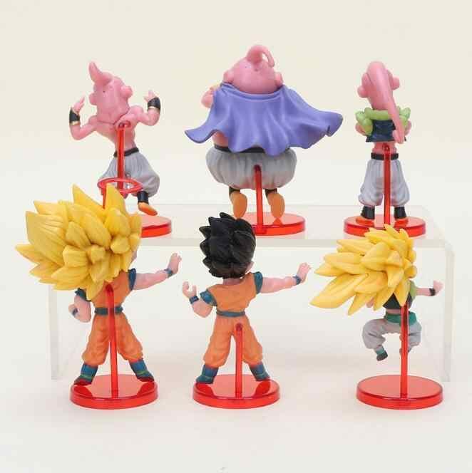 6 шт. Dragon Ball Z сын Гоку Гохан Chiaotzu плов Чичи Garin Фея Krillin Каме Sennin дети фигурку игрушки рождественский подарок