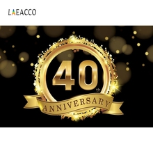 Laeacco Golden Ring Anniversary Commemorate Party Photography Backgrounds Customized Photographic Backdrops For Photo Studio