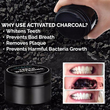 Activated Charcoal Bamboo Teeth Whitening Powder Natural Organic + Tooth Brush 1 Set