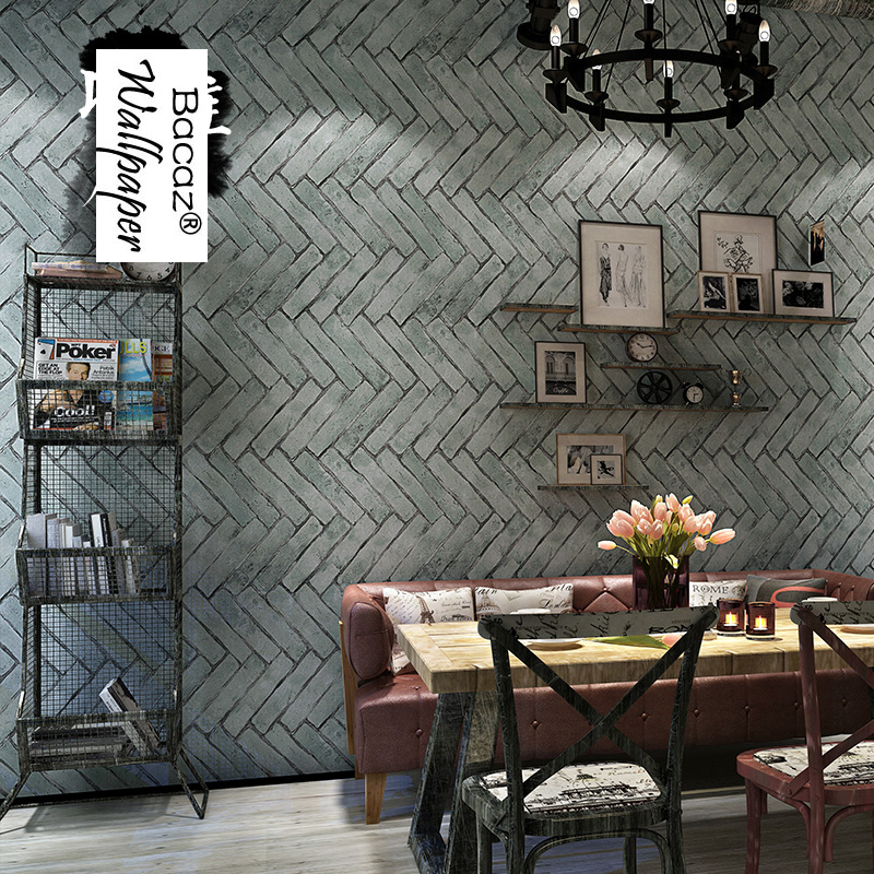 Quality 10m Vintage Grey Cement 3D Brick Wallpaper Rolls for Walls Background 3d Stone Wall paper for living room home decor shinehome abstract brick black white polygons background wallpapers rolls 3 d wallpaper for livingroom walls 3d room paper roll