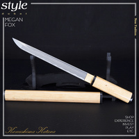 ハンドメイド折り畳ま鋼サムライストレート剣刀シャープエッジウッド沙