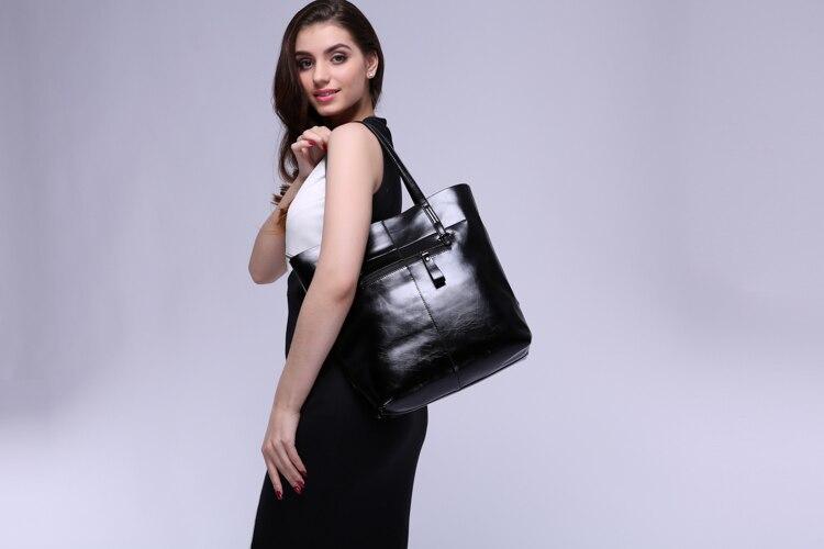 rima mulheres de couro balde Women Shoulder Occasion : Party Bag. Evening Bag, business Bag
